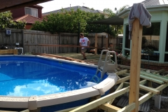 decking around pool start to finish (2)