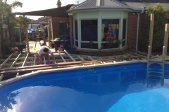 decking around pool start to finish (3)
