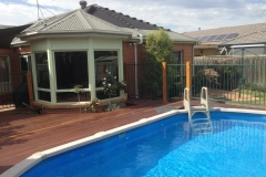decking around pool start to finish (7)