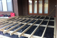 decking framework with weedmat (2)